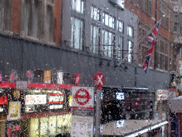TCR from the bus in the rain
