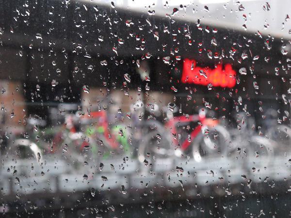 Rainy Euston abstract