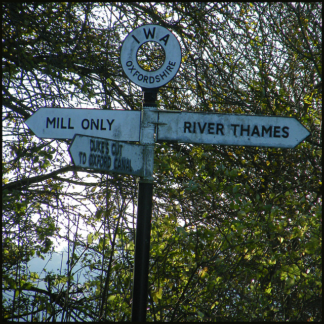 waterways signpost