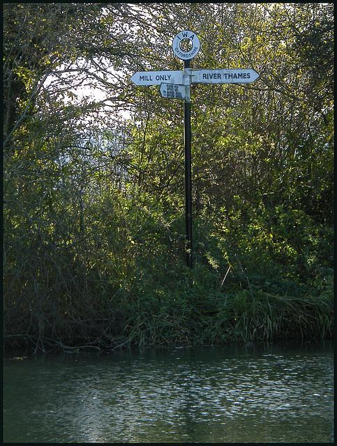 river signpost