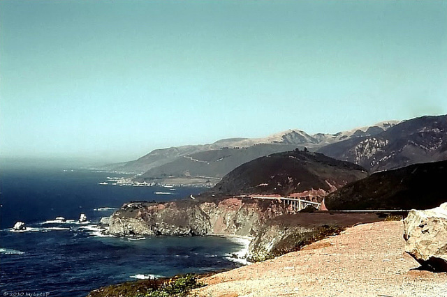 Pacific Coast Highway at Bixby Bridge 1978 (000°)