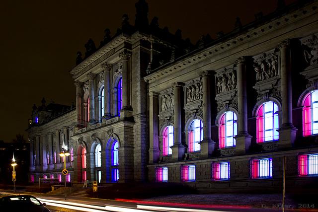 Landesmuseum Hannover illuminiert