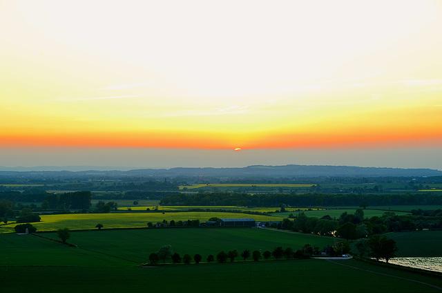 Shropshire at sunset