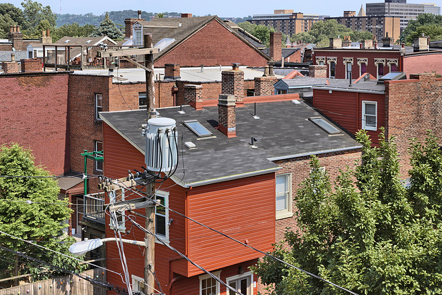Back Yard Transformer – Viewed from the Mattress Factory Museum, Central Northside Neighbourhood, Pittsburgh, Pennsylvania