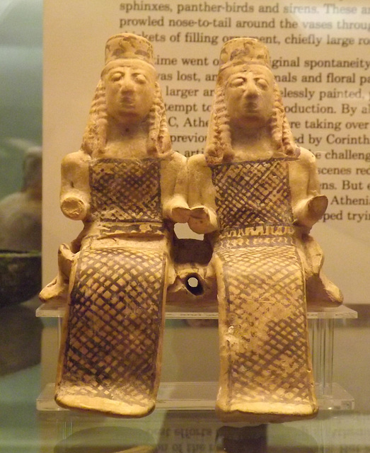 Terracotta Model of Two Figures, Perhaps Demeter and Persephone in the British Museum, May 2014