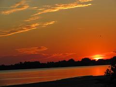 2012 - sunset at Gandy Beach - Florida US