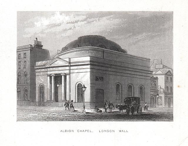 Albion Chapel, London Wall, City of London