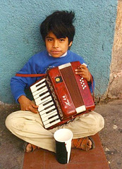 Young street musician, Tijuana