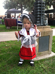 Little one in Welsh gear, St. David's Day at Barnsdall Art Park