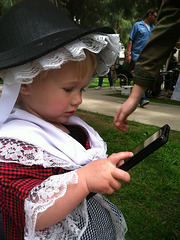 Welsh lass with a kindle, St. David's Day at Barnsdall Art Park