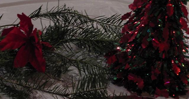 Christmas glitz & green ...