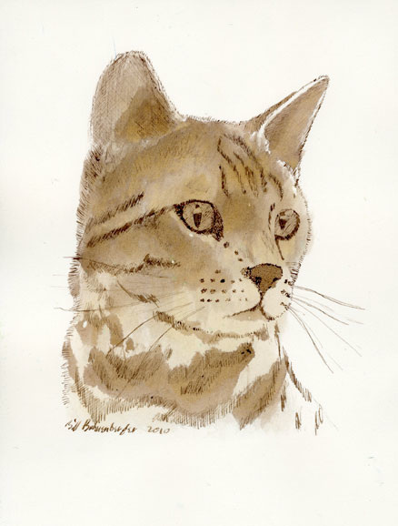"""Prince Ragnar"", ink, 6x8in"