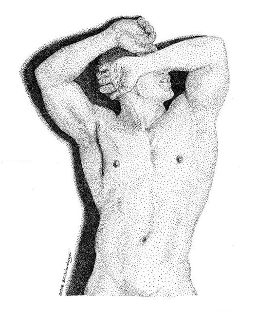 """""""Torso 1"""", ink, 13x16in"""