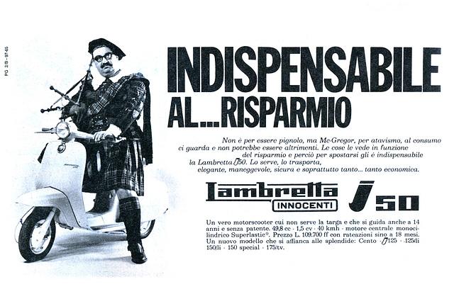 Lambretta i50, Innocenti, Milano, Italia, 1965