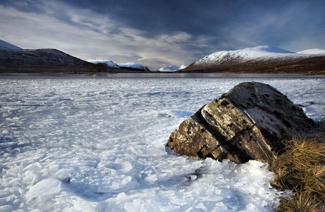 Loch Droma, Frozen, Wester Ross, Scottish Highlands