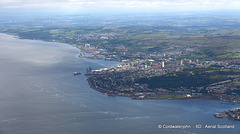 Gourock and Greenock beyond, Firth of Clyde - Aerial
