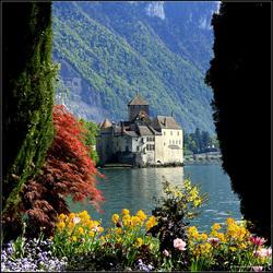 Château de CHILLON sur le lac(Leman)
