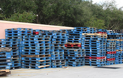 Stack & stacks of pallets ...