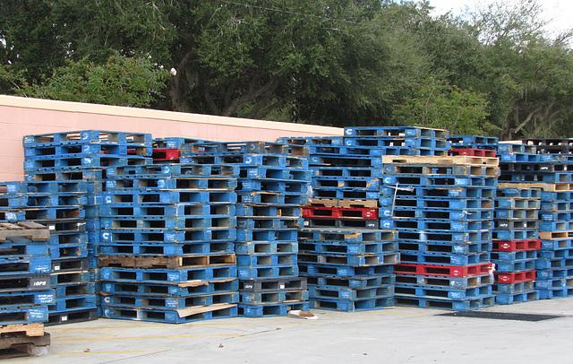Stack & stacks of pallets ...