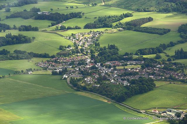Aerial - The village of Gargunnock, Stirlingshire - Aerial
