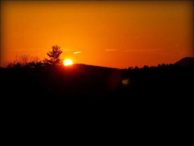 serengeti sun over central new england