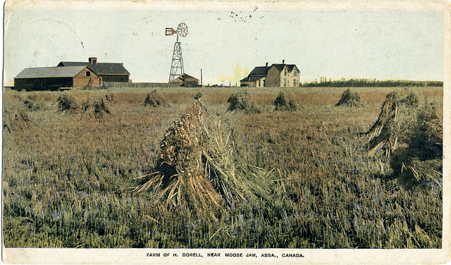 Farm of H. Dorell, near Moose Jaw, Assa., Canada