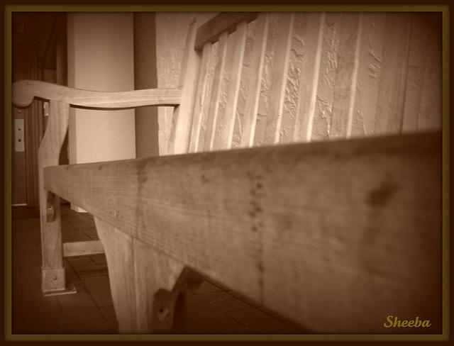 A bench..
