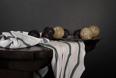 Plums, Pewter and Towels