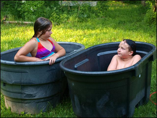 his 'n' hers redneck pools