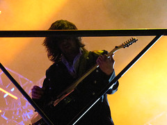..on the catwalk above our heads ! / 2010 Dec 11 TSO  Winter Tour - St Pete Times Forum, FL