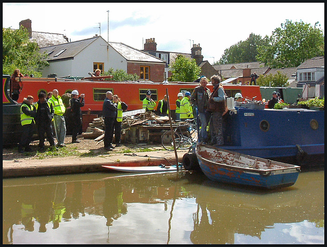 eviction on the Oxford Canal