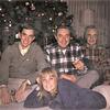 Rick, Karen, Carl and Grandpa Rudy.  Christmas, 1965