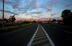Katowice before sunset.