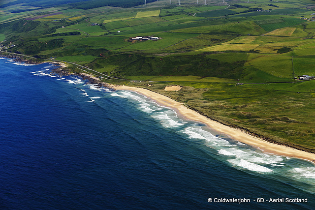 Aerial - West Coast Scotland - the beach at Machrihanish