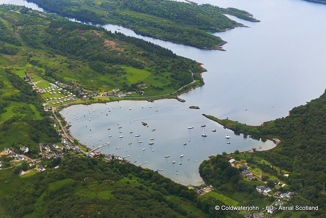 Aerial - West Coast Scotland - Tayvallich