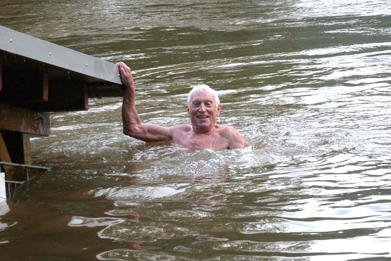 Elbhochwasser 8. Juni 2013 - die Elbe ist schon 1m gefallen