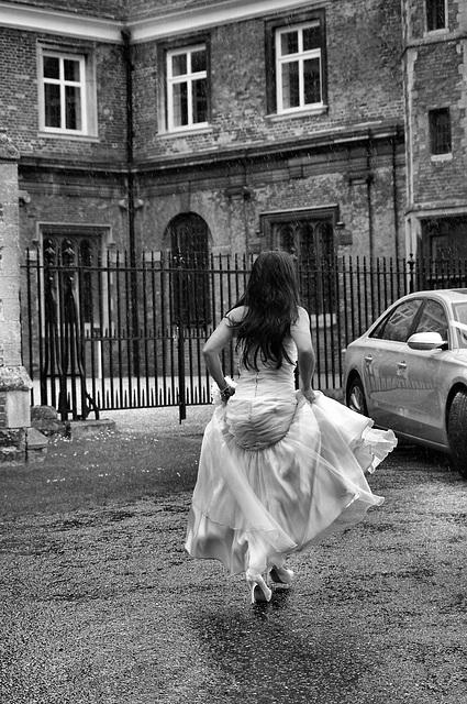 Running from the rain