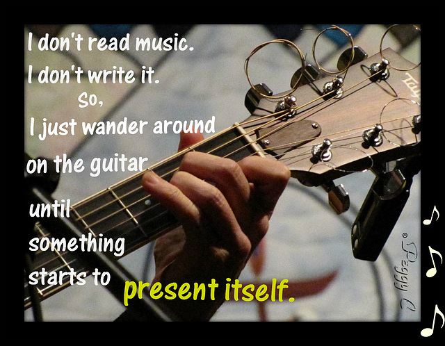 - Hands of a guitarist (Florida) -- words from another guitarist (North Carolina) -- neither one knows the other