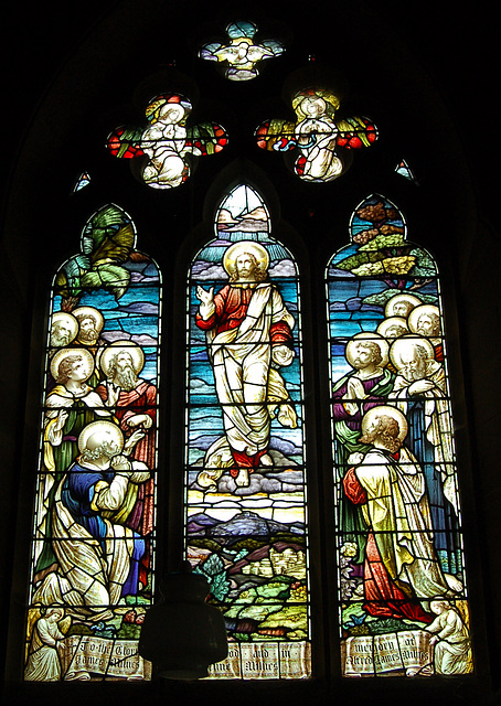 Victorian Stained Glass, North Aisle, West Window, St James' Church, Idridgehay, Derbyshire
