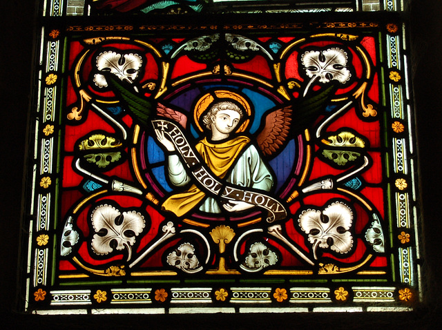 Victorian Stained Glass, West Window lower panel (left), St James' Church, Idridgehay, Derbyshire