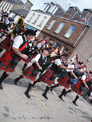 Bagpipers in Sanquhar