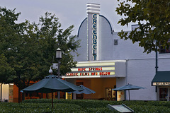 The Greenbelt Theatre at Dusk – Roosevelt Center, Greenbelt, Maryland