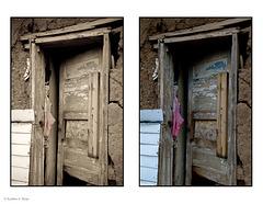 Truchas doorway diptych