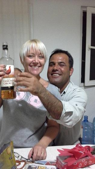 Mandi and Dogan celebrating her birthday