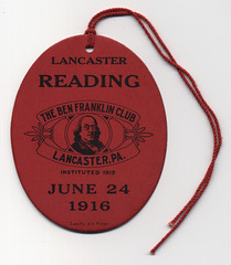 The Ben Franklin Club, Lancaster, Pa., 1916