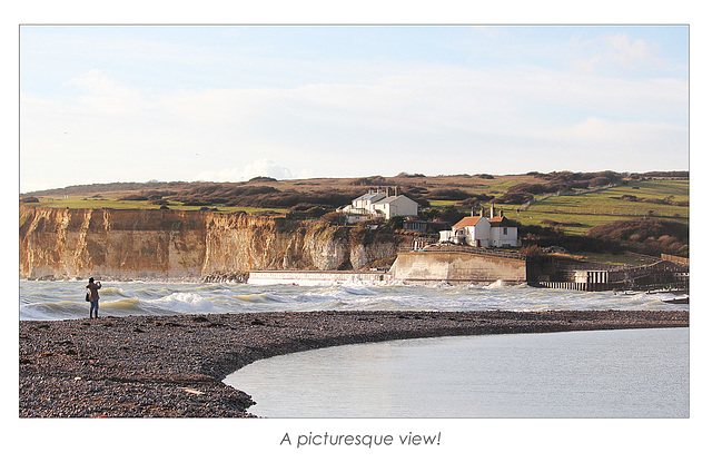 A picturesque view - Cuckmere Haven - 21.1.2014