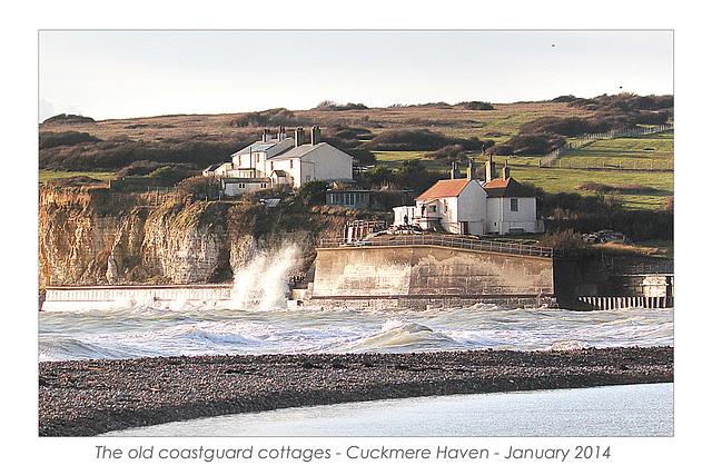 Old coastguard cottages - Cuckmere Haven - 21.1.2014