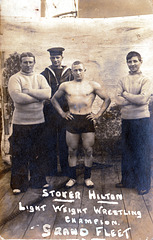 Stoker Hilton, Light Weight Wrestling Champion, Grand Fleet