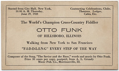Otto Funk, the World's Champion Cross-Country Fiddler