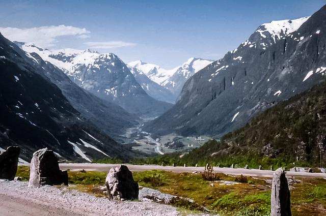 Norway 1970 - Videseter - View towards Stryn (240°), June 9th